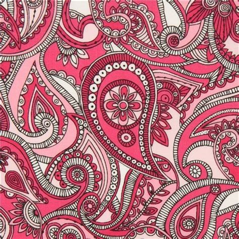 pattern fabric pink pink paisley pattern and flower fabric by robert kaufman