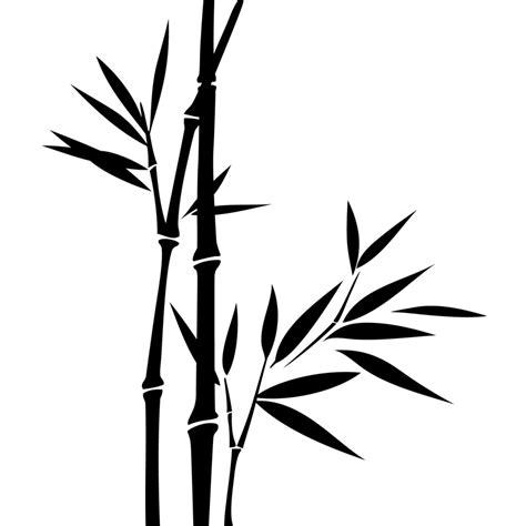 Stickerstiker Kaca Bambu 3 stickers muraux fleurs sticker deux tiges de bambous ambiance sticker