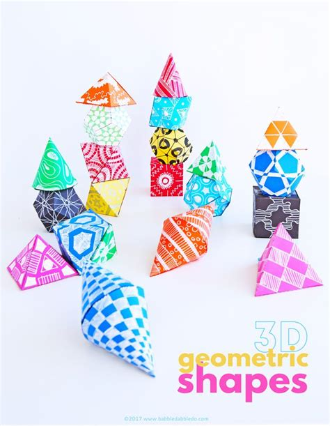 How To Make 3d Figures Out Of Paper - 855 best math images on learning