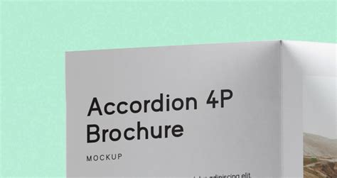 accordion brochure template psd accordion fold mockup us a4 psd mock up templates