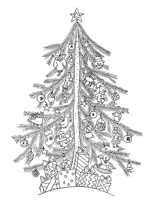 christmas tree coloring page for adults christmas tree simple christmas coloring pages for