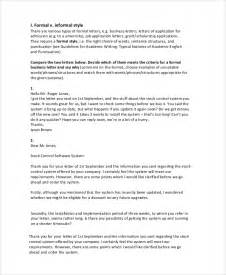format for letter writing formal sle letter writing 7 documents in pdf word