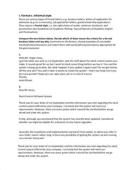 8 Sle Letter Writings Sle Templates Writing A Formal Letter Template