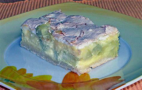 rhabarber quark kuchen rhabarber quark kuchen unter baiserhaube rezept mit