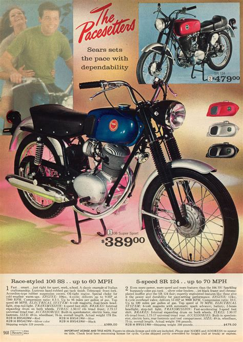 sears brochures  adverts classic motorbikes