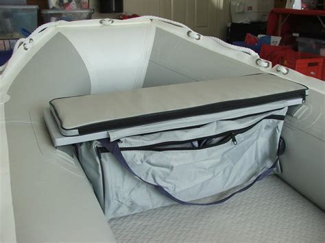 inflatable boat storage underseat storage bag with cushion for inflatable boats