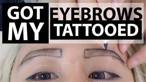 temporary eyebrow tattoo eyebrow before and after everything you need to