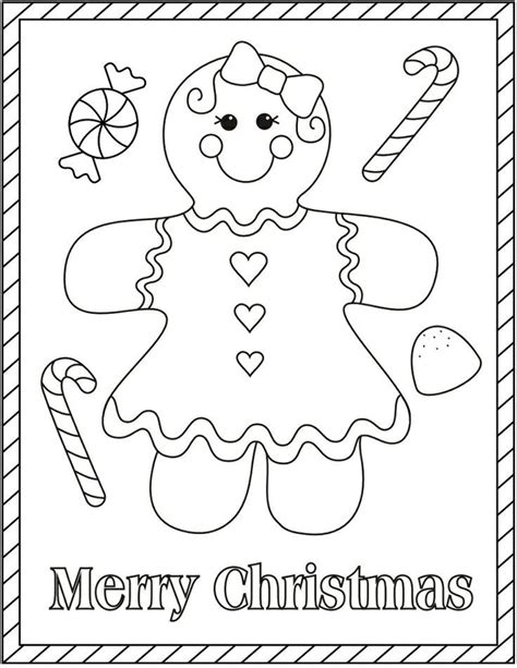 Gingerbread Girl Coloring Pages Coloring Home Free Gingerbread Coloring Pages