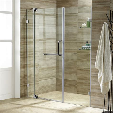 4 Foot Shower Door Vigo Pirouette 48 In X 72 In Adjustable Semi Framed Pivot Shower Door In Brushed Nickel With