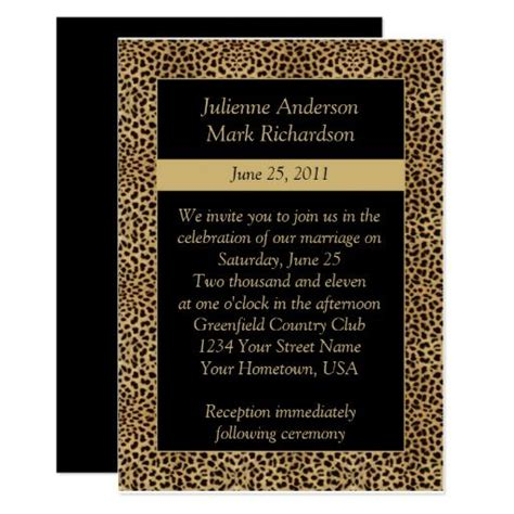Animal Print Wedding Invitations by 232 Best Animal Print Wedding Invitations Images On