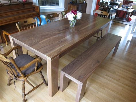 benches for dining room tables walnut dining room table bench by dsz123 lumberjocks
