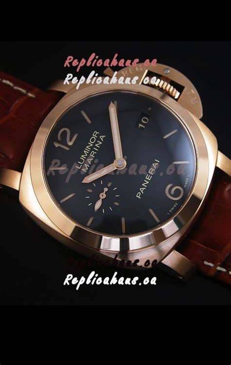 Replika Panerai Luminor Marina Pam 393 Gold rhca2016 778 panerai luminor marina pam393 42mm swiss gold replica