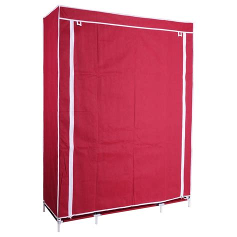 Portable Wardrobe Closet Home Depot by 50 Quot Portable Wardrobe Folding Closet Hanging Cloth Storage