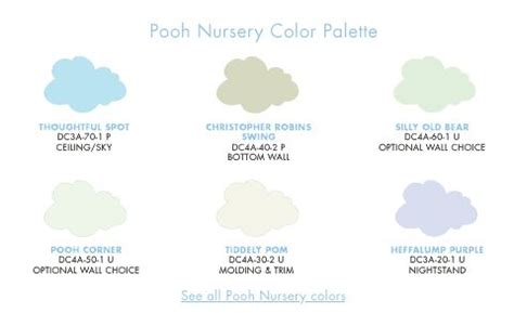 pooh nursery color palette archives winnie the pooh collection paint and wall d 233 cor