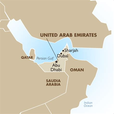 geographical map of uae united arab emirates geography and maps goway