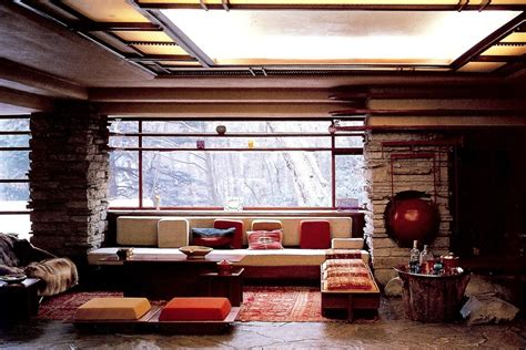 frank lloyd wright falling water interior jack lenor larsen textiles an eclectic eccentric