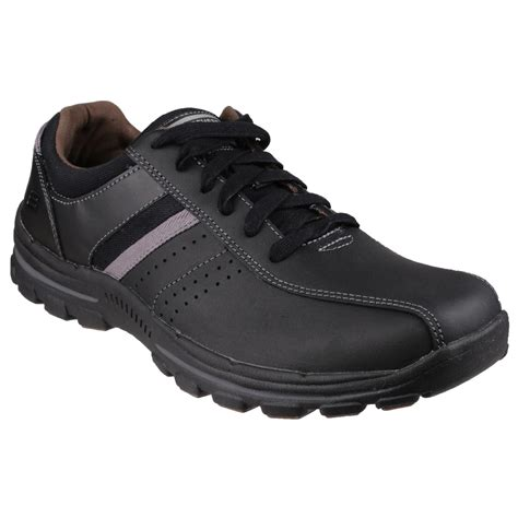 oxford style shoes skechers mens braver alfano lace up oxford style shoes ebay