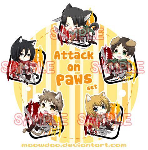 Pocket Book Anime Snk Shingeki No Kyojin Hardcover attack on paws set by maowdao on deviantart