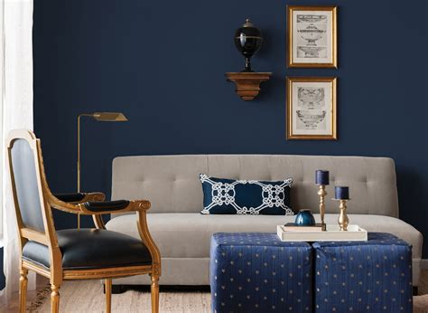 royal blue living room with feature wall decorating rich navy living room living room colours rooms by