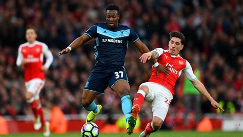 arsenal yesterday middlesbrough winger adama traore broke a premier league