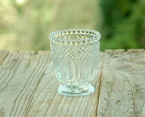 heirloom votive candle holders clear 3in set of 6