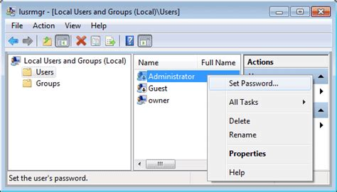 reset admin password on vista recover ad password active directory password reset