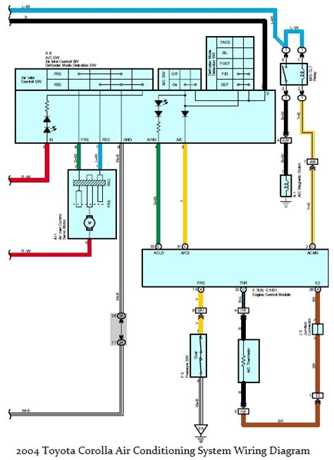 wiring diagrams 2004 toyota corolla air conditioning
