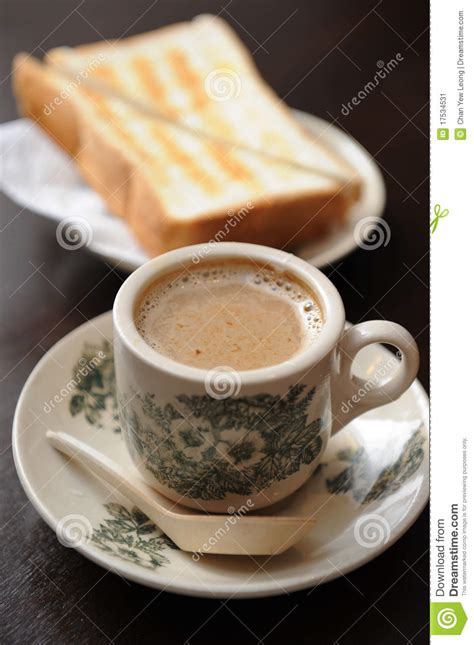 toast coffee house coffee and toast stock image image 17534531
