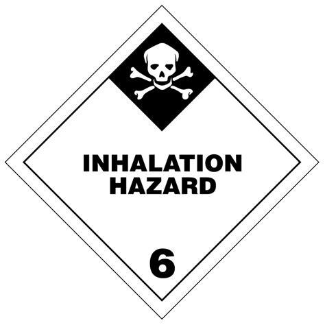 poison inhalation hazard hazmat labels transportlabels