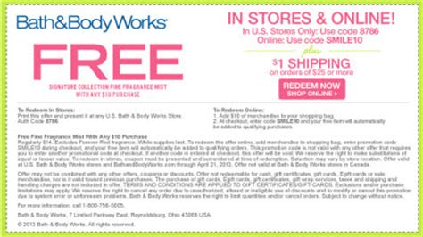bed bath and body works coupons bath and body works free shipping operation18 truckers