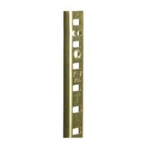 shelving hardware kv 255 pilaster standards 30 quot brass
