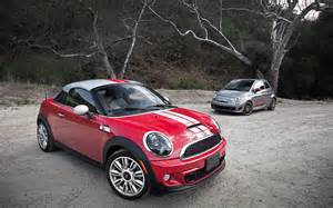 Fiat 500 Vs Mini Cooper 2012 Fiat 500 Abarth Vs 2012 Mini Cooper S Coupe Parked