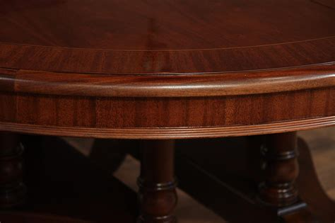 mahogany dining table round to oval mahogany dining table with leaves sits 12