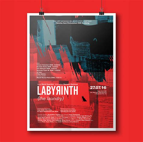 laundry design poster labyrinth the laundry poster design on behance