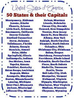 list of the 50 states 1000 images about states and capitals on pinterest