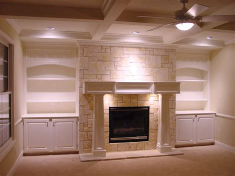 fireplace bookshelf design ideas