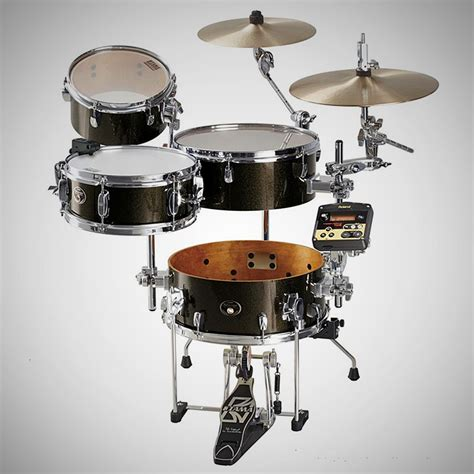 Portable Light Tama Cocktail Jam Hybrid Drum Kit Powered By Roland