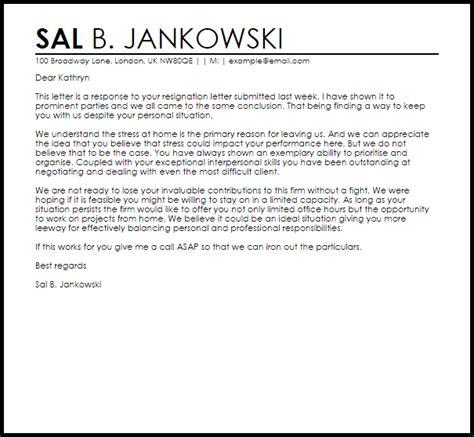 Response To Resignation Letter   Resignation Letters