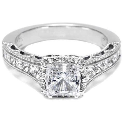 tacori channel set princess cut engagement ring