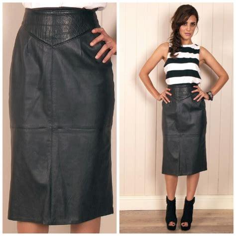 skirt leather leather skirt pencil skirt midi skirt
