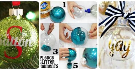 name ornaments homemade how to make diy personalized glitter ornaments