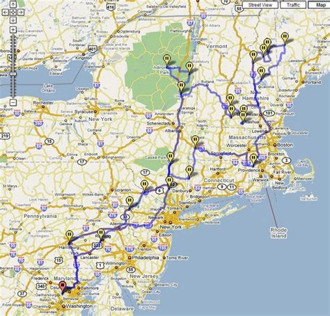 driving map northeast us new road trip map suggested routes repinned by