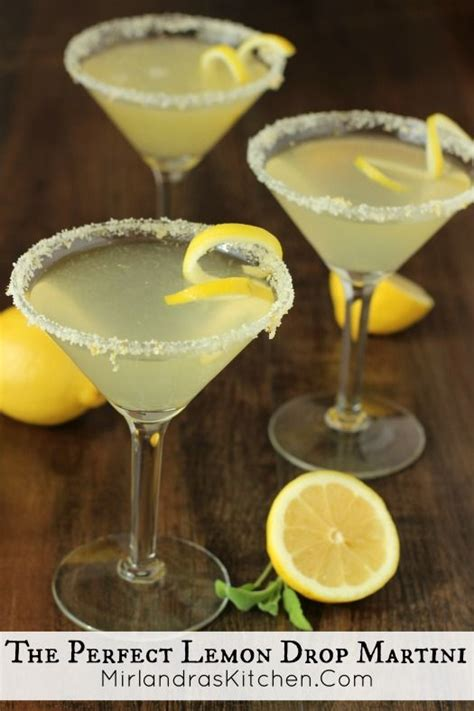 7 Great Martini Recipes by The Lemon Drop Martini Recipe Lemon Drop
