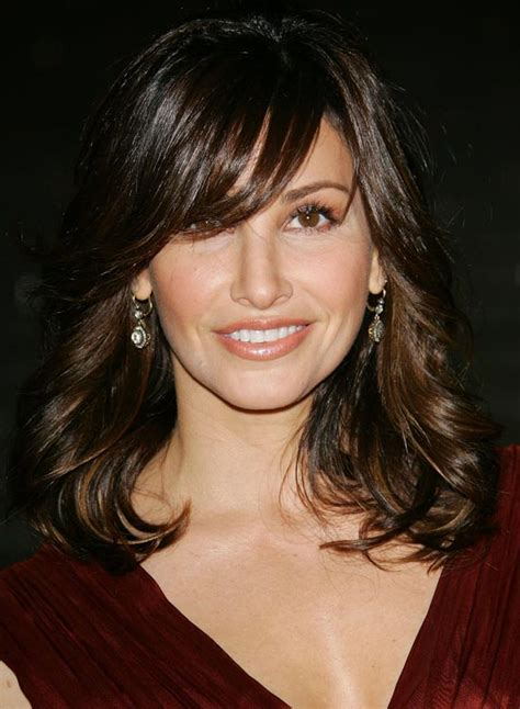blunt haircuts for women over 50 medium length one length straight hairstyles with soft