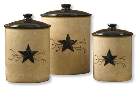 Rustic Kitchen Canisters star vine canister set