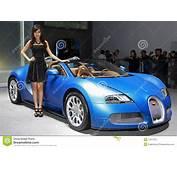 A Model And Bugatti Veyron 164 Grand Sport Editorial