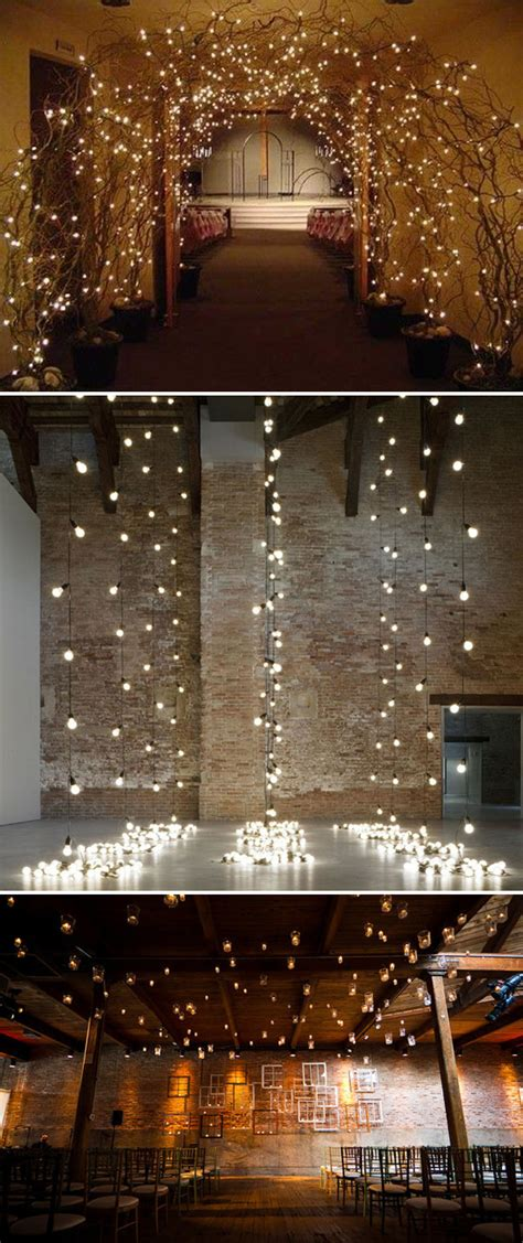 Lights As Ceremony Backdrop Nice Wedding Decoration Pinpoint Wedding Light Backdrop