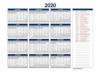 thailand yearly calendar template excel  printable templates