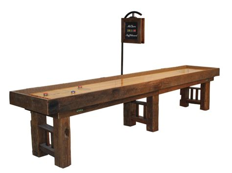 Handcrafted Table - shuffleboard table on handcrafted in americamcclure