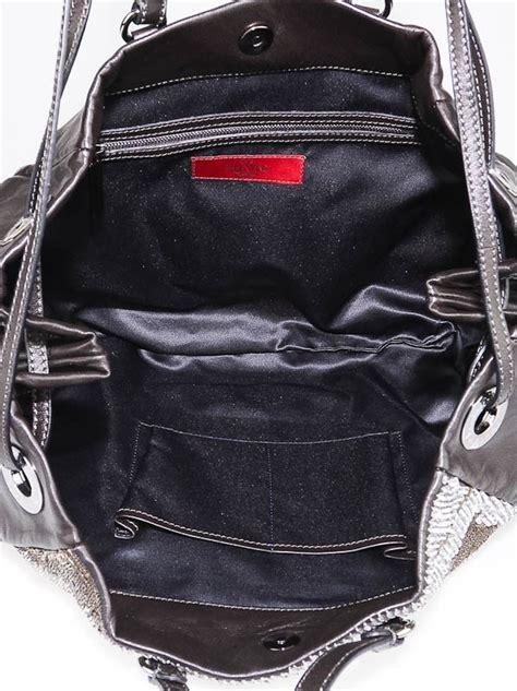Prada Rosette Tote by Valentino Black Lambskin Leather Sequin Rosette Tote Bag
